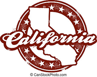 timbre, état, californie