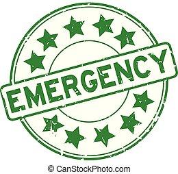 timbre, étoile, grunge, vert, icône, caoutchouc, urgence, rond