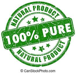 timbre, 100, naturel, pur