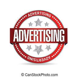 timbre, advertising., mot, illustration