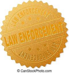 timbre, application, droit & loi, médaille, or
