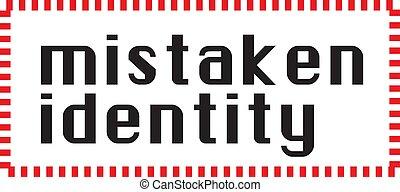 timbre, blanc, identité, fond, mistaken