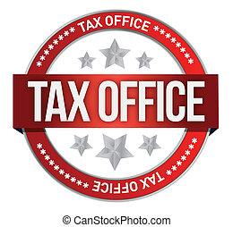 timbre, caoutchouc, impôt, marqué, bureau