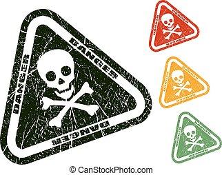 timbre, crâne, danger