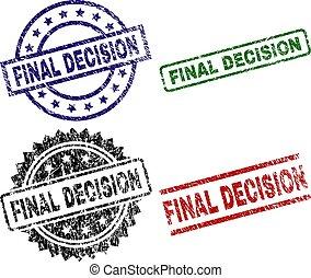 timbre, final, cachets, textured, décision, endommagé