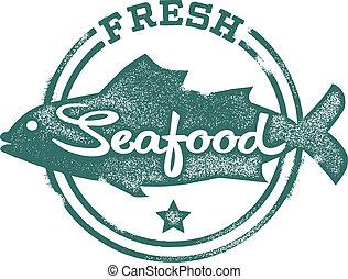 timbre, fruits mer frais, menu
