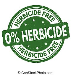 timbre, gratuite, signe, herbicide, ou