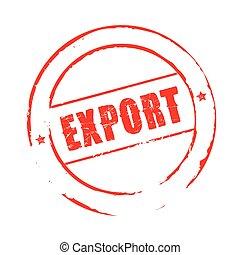 timbre, grunge, vecteur, exportation, rouges