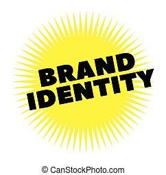 timbre, impression, marque, blanc, identité