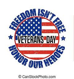 timbre, jour vétérans