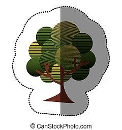 timbre, naturel, arbre, icône