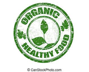 timbre nourriture, organique, sain