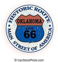 timbre, parcours, historique, oklahoma