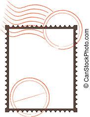 timbre postal, cadre