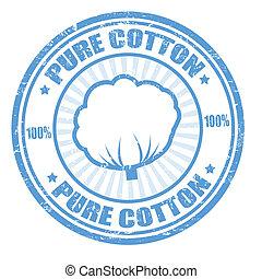 timbre, pur, coton