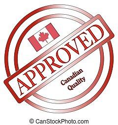 timbre, qualité, approuvé, canadien