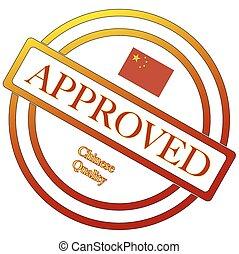 timbre, qualité, approuvé, chinois