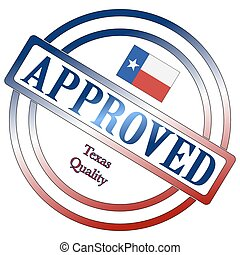 timbre, qualité, approuvé, texas
