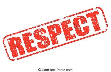 timbre, respect, rouges, texte