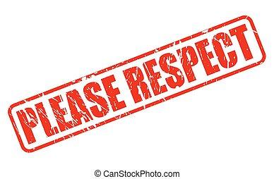 timbre, respect, s'il vous plaît, rouges, texte