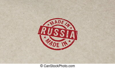 timbre, russie, compostage, fait, animation