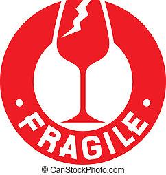timbre, symbol), fragile, (fragile