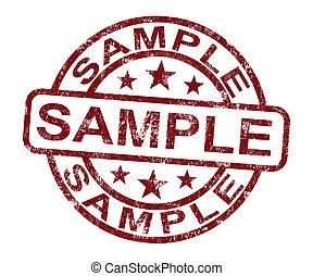 timbre, symbole, ou, échantillon, goûter, exemple, spectacles