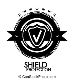 timbre, vendange, étiquette, étiquette, protection, noir, retro, écusson, |