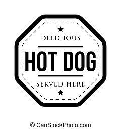 timbre, vendange, hot-dog