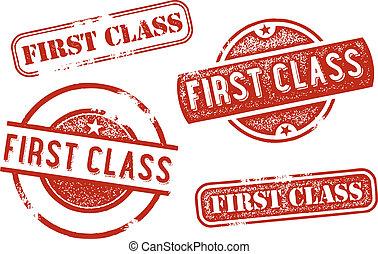 timbres-poste, classe, premier