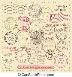 timbres, vendange, ensemble