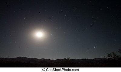 timelapse, étoiles, nuit