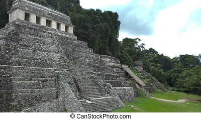 timelapse, 21, chiapas, décembre, mexico., maya, evénements, volonté, palenque, transformative, 2012., croire, ruines, produire, mayans