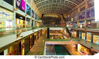 timelapse, achats, gens, motion., (4096x2304), centre commercial, 4k