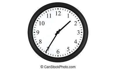 timelapse, animation, boucle, horloge