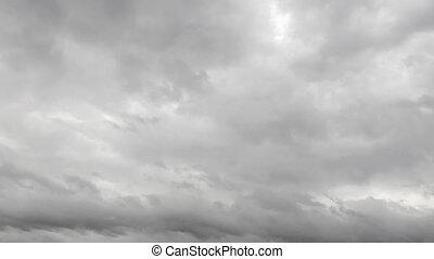 timelapse, ciel, nuageux
