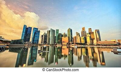 timelapse, singapour
