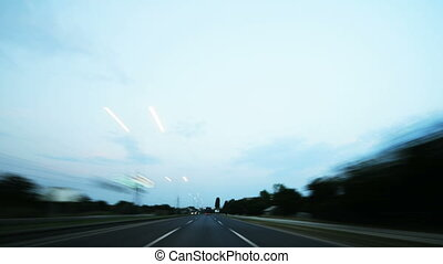 timelapse, trafic, 4k, nuit