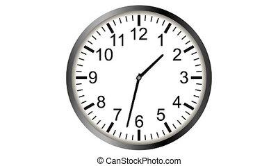 timelapse, vidéo, animation, loopable, horloge