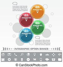 timeline, gabarit, infographic