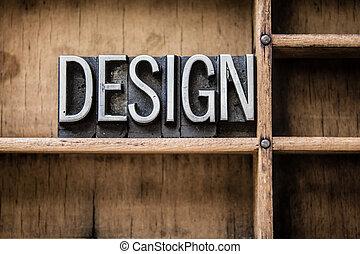 tiroir, conception, type, letterpress
