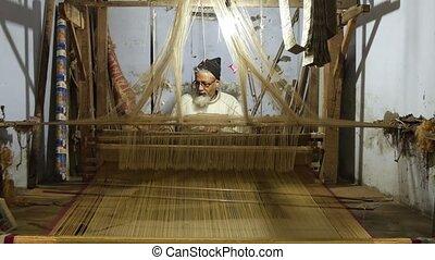 tisserand, travail, asiatique
