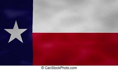 tissu, boucle, texas, dense, drapeau, fond, wavers