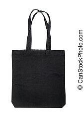 tissu, isolé, sac, arrière-plan noir, blanc