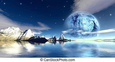 titane, lune