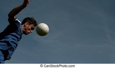 titre, boule football, joueur, onu