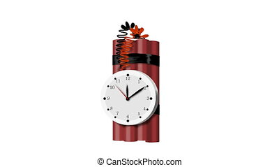 tnt, bombe, vid, coutil, temps, explosif