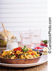 tofu, légumes, curry, vegan