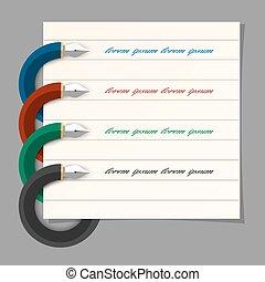 toile, écriture, étape, coloré, présentation, infographics, stylo, conception, stylisé