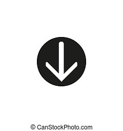 toile, app, mobile, illustration, internet, téléchargement, vecteur, cercle, conception, plat, bouton, icône